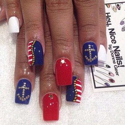 Nailspadesigns Acrylic Nail Art 2014 4th Of July Nails 1 5