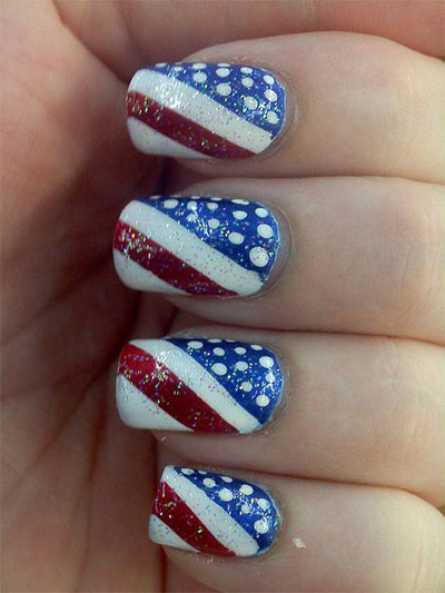 10 amazing fourth of july acrylic nail art designs ideas nailspadesigns acrylic nail art 2014 4th of prinsesfo Choice Image