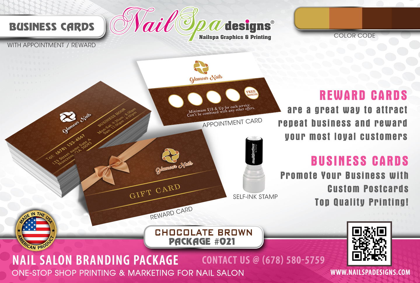 Nsd package 021 chocolate brown nail spa designs reheart Image collections